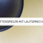 Plattenspieler mit Lautsprecher: Eine einfache kompakte Lösung