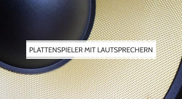Plattenspieler mit integrierten Lautsprechern