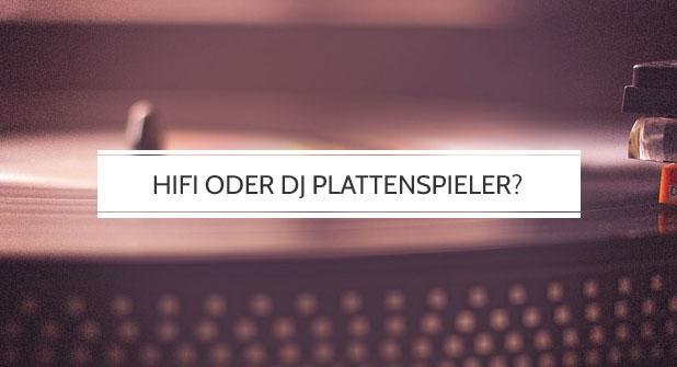 Hifi oder DJ Plattenspieler